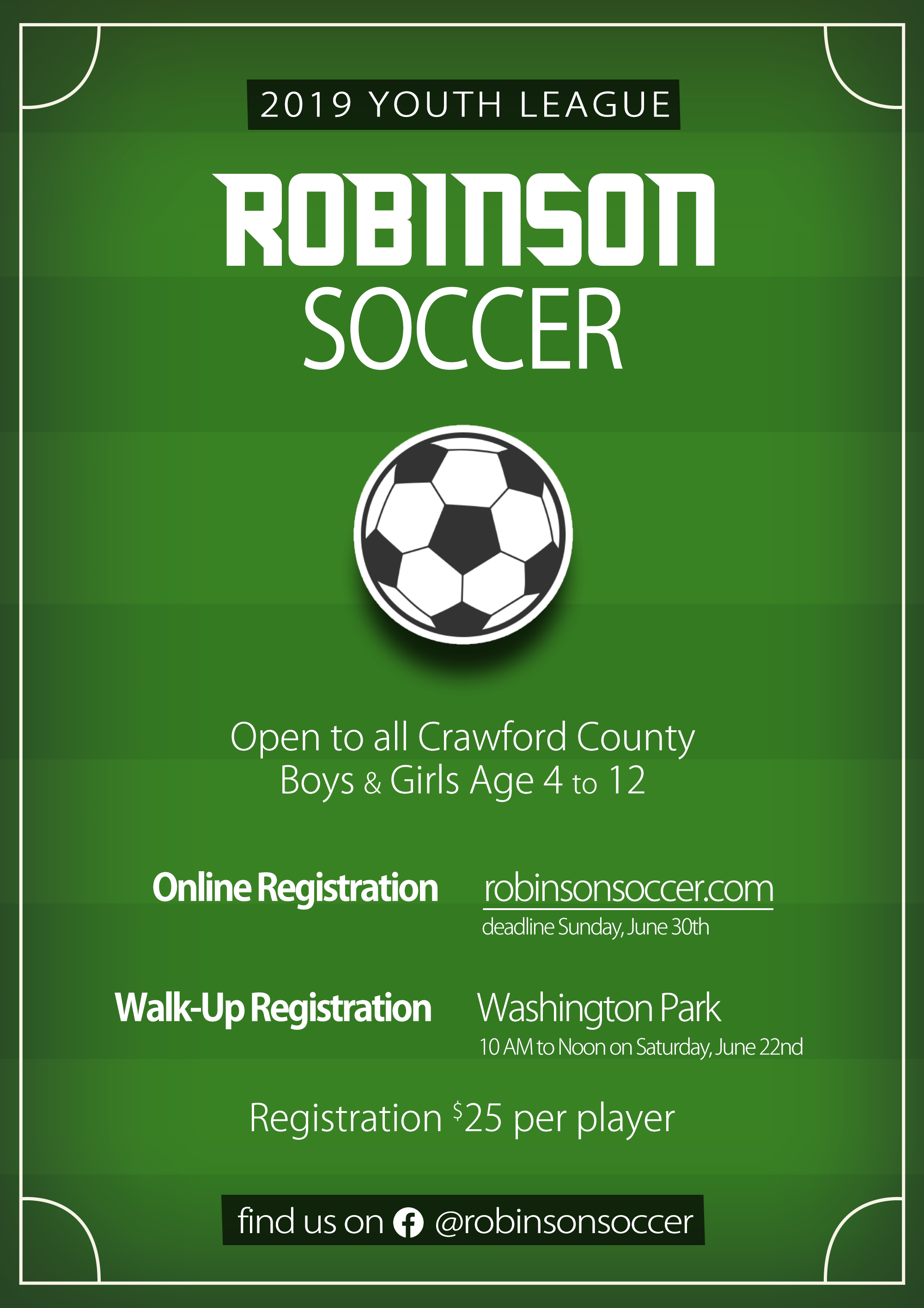 Robinson Soccer Youth League 2019
