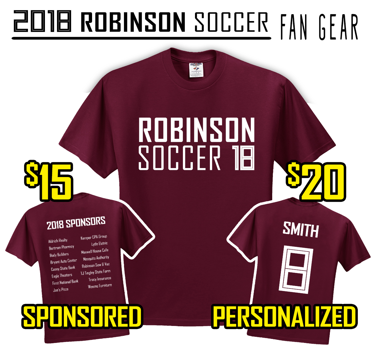 2018 Robinson Soccer Youth League Fan Gear